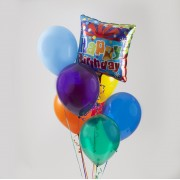 One Mylar - 7 Latex Balloon Bouquet