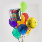 Two Mylar - 10 Latex Balloon Bouquet