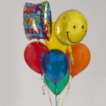 Two Mylar - 5 Latex Balloon Bouquet