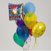 Two Mylar -7 Latex Balloon Bouquet