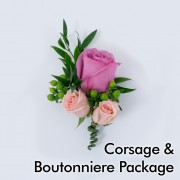 Bright Wedding: Corsage & Boutonniere Package