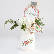 Holiday Hydrangea Mason Jar Arrangement