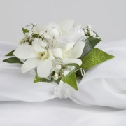Glam Dendrobium Orchid Wrist Corsage