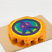 24ct Peace Sign Cupcake Cake