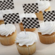 Checkered Flags Cupcakes