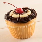 1ct Jumbo Boston Creme Cupcake