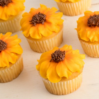 Signature Sunflower Cupcakes