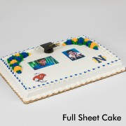 Graduation Floral Two Portrait & Two Mascots Cake