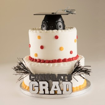 Stacked Graduation Cake