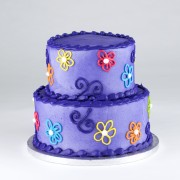 Stacked Groovy Floral Cake